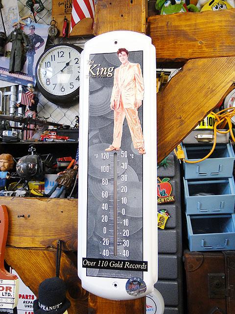エルヴィス・プレスリーのサーモメーター ■ アメリカ雑貨 アメリカン雑貨 アメリカ 雑貨 温度計 おしゃれ アナログ 壁掛け 壁飾り インテリア