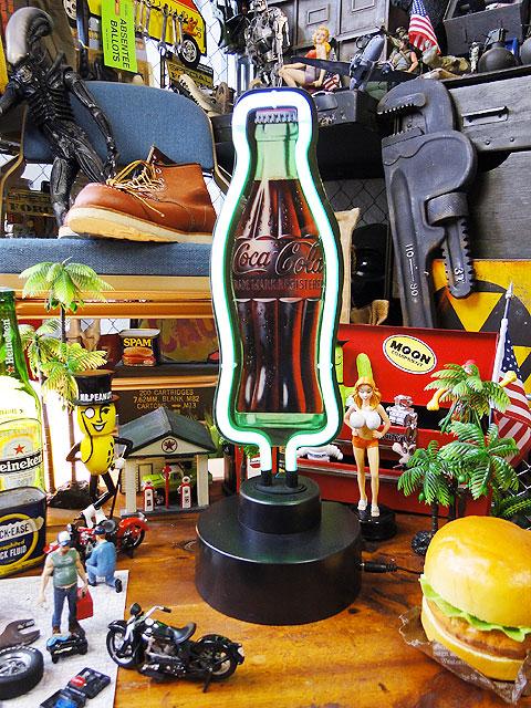 コカ・コーラ コンツアーボトルのテーブルネオン ■ アメリカ雑貨 アメリカン雑貨