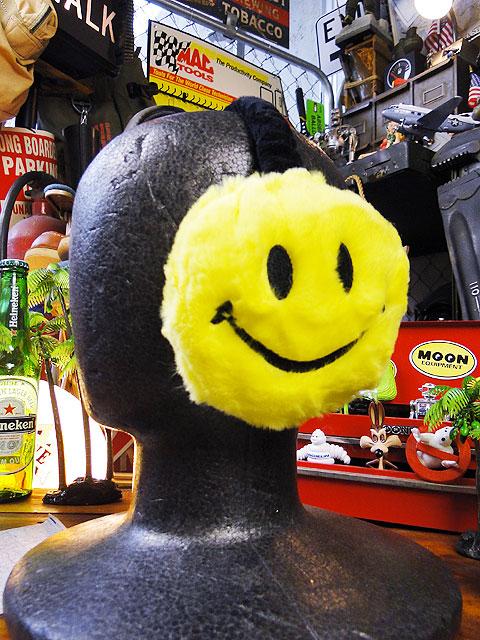 頭に装着してない時でも とにかく見た目に可愛い 新色追加して再販 上品 スマイルのイヤーマフラー ■ アメリカン雑貨 通販 アメリカ雑貨