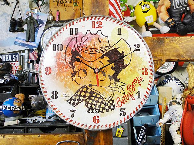 ベティ・ブープのバブルクロック(カウガール) ■ アメリカ雑貨 アメリカン雑貨