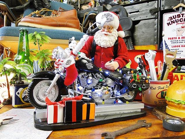 ハーレーサンタのクリスマスオブジェ ■ アメリカ雑貨 アメリカン雑貨