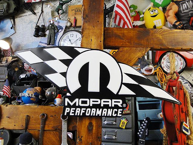モパーのチェッカーフラッグ・ビッグブリキ看板(モパーパフォーマンス):アメリカ雑貨通販キャンディタワー