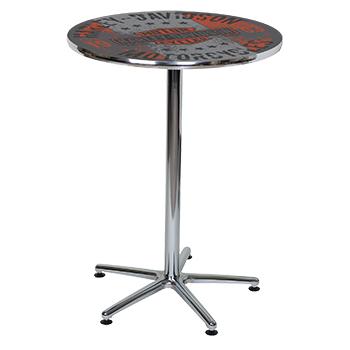 【全国送料無料】ハーレーダビッドソンのバーテーブル(エイジング・ヴィンテージロゴ)【※代引発送不可】