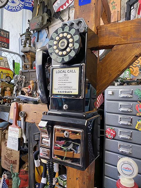 アメリカの公衆電話機型テレフォン 1957年モデル(レトロブラック):アメリカ雑貨通販キャンディタワー