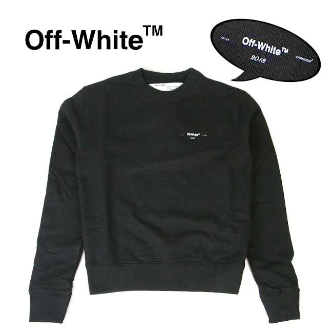 【半期に一度の 決算SALE】OFF-WHITE スウェット オフホワイト メンズ スウェット長袖 ワンポイント OFF WHITE