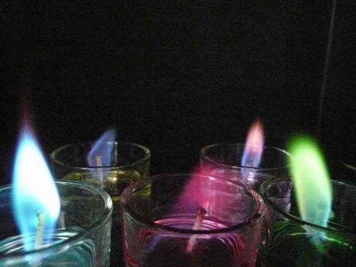 炎に5色の色がつく 癒しの炎 クリスマス イベントに おすすめ カラー キャンドル ティー アロマキャンドル 海外並行輸入正規品 1 スタンダードタイプ