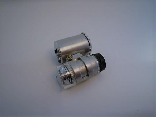宝石鑑定や小さい物のチェック 小型ルーペ 全国どこでも送料無料 LED付き紫外線ライト 小型顕微鏡 60倍 即出荷 ルーペ