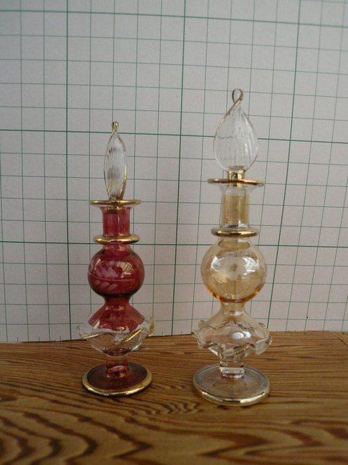 エジプト職人の手作り 香水瓶 激安通販販売 かわいいガラス細工 プレゼント贈答品 エジプト香水瓶34 ガラス細工 パヒュームボトル ガラス工芸品 信憑