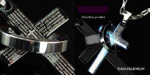 アレルギー 変色にも安心ジュエリーステンレス製 受注生産品 316L 未使用 リング クロス ジュエリーステンレス製 ペアネックレス