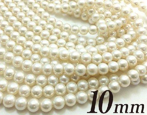 日本製 天然貝パール10mmパールパーツ ホワイト シルバーブラック ブレスレット パーツ 大好評です 保証 ネックレス 天然貝パール10mmジュエリー