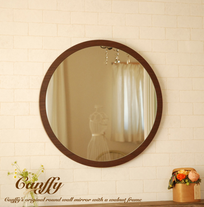 Mirror Wall Mounted Round Mirrors L Brown