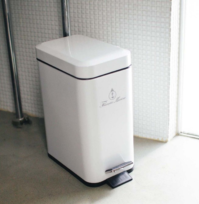 White Kitchen Bin canffy | rakuten global market: slim pedal trash white antique