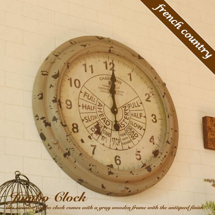 壁掛け時計 おしゃれ 大型 掛け時計 時計 壁掛け 北欧 アンティーク スロットル ウォールクロック ブリキ レトロ シンプル アンティーク風 かわいい 姫系 カフェ風 掛時計 ウォールクロック リビング ダイニング ギフト キュート ロココ調 フレンチ カントリー グレー