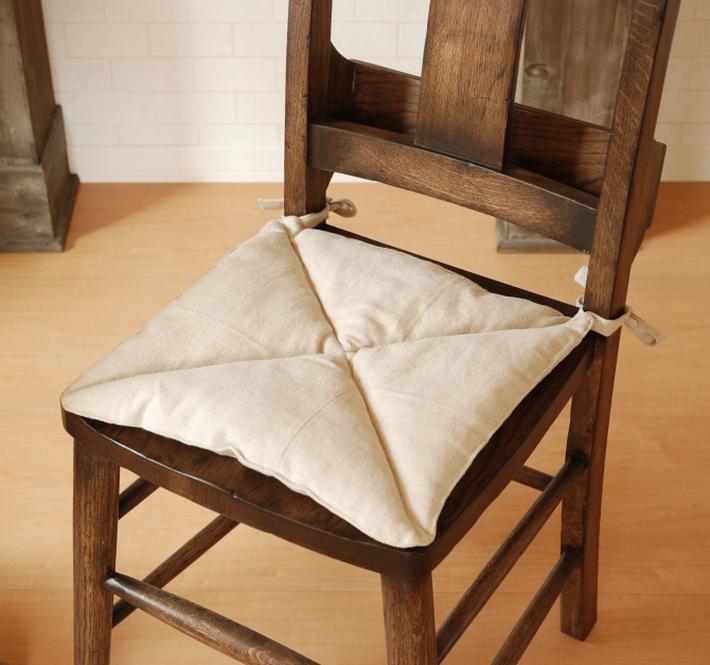 Cushion chair seat cushion Chair for Chair for hemp cotton linen DrawString  made in Japan handmade handmade antique antique chairs for Chair cushions  seat ... - Canffy Rakuten Global Market: Cushion Chair Seat Cushion Chair For