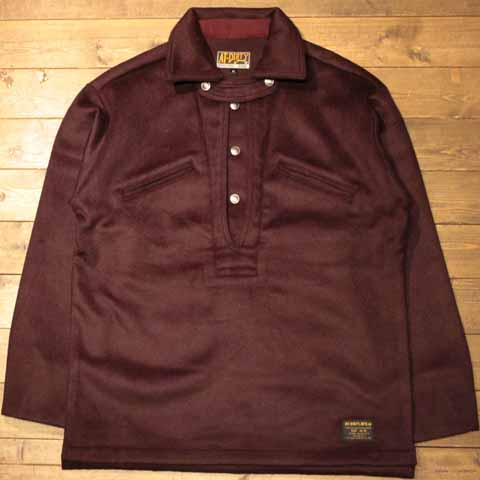 """AT-DIRTY""""WELDER MELTON PULLOVER""""BURGUNDY【AT-DIRTY】(アットダーティー)正規取扱店(Official Dealer)Cannon Ball(キャノンボール)【送料無料/あす楽対応/プルオーバーシャツ】"""