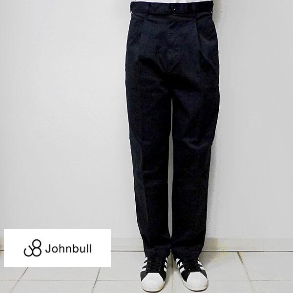 【7/29 23:59までポイント7倍】JOHNBULL ジョンブル メンズ 21239 フレックスワイドチノトラウザー 051ネイビー 4サイズ(S M L LL)