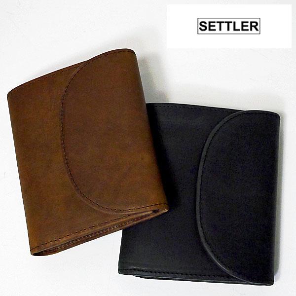 【4/7 23:59までポイント7倍】【正規販売店】【送料無料】SETTLER セトラー Small3FoldWallet 三つ折り折りウォレット(S) OW-1058 BROWN BLACK (本革財布)