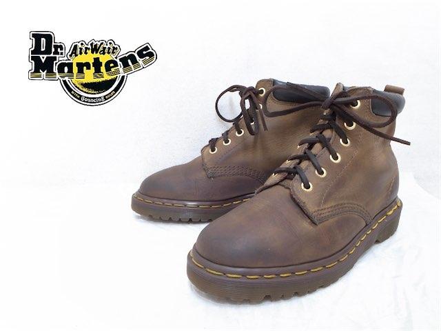 希少廃盤英国製 小さいサイズ:UK5 24cm Dr.Martens ドクターマーチン プレーントゥ 6ホールブーツ レザー ダークブラウン系 f-3236 メンズ レディース 靴 あす楽対応 USED 古着 アメカジ【中古】