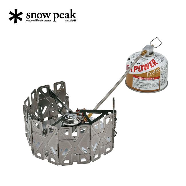 スノーピーク ヤエンストーブ ナギ snow peak ガスバーナー ガスボンベ ストーブ カートリッジ 燃料 焚火 調理 GS-360 アウトドア <2020 春夏>