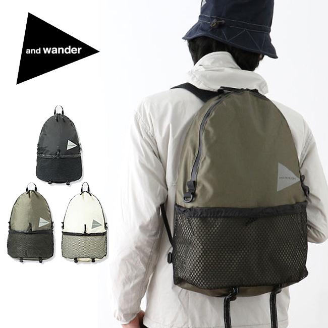 アンドワンダー 20L デイパック and wander 20L daypack リュック リュックサック バッグ ザック デイパック AW-AA990 <2019 春夏>