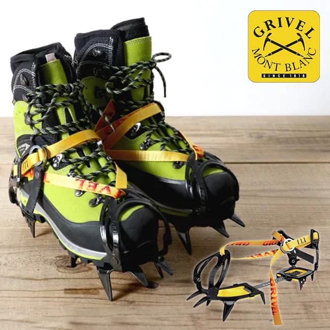 グリベル G10・ワイド 【送料無料】 GRIVEL G10 Wide アイゼン クランポン アルパイン クライミング バックカントリー アウトドア 登山 雪 氷 10〜14本爪 バンド式 つま先幅広 GV-RA072A24F