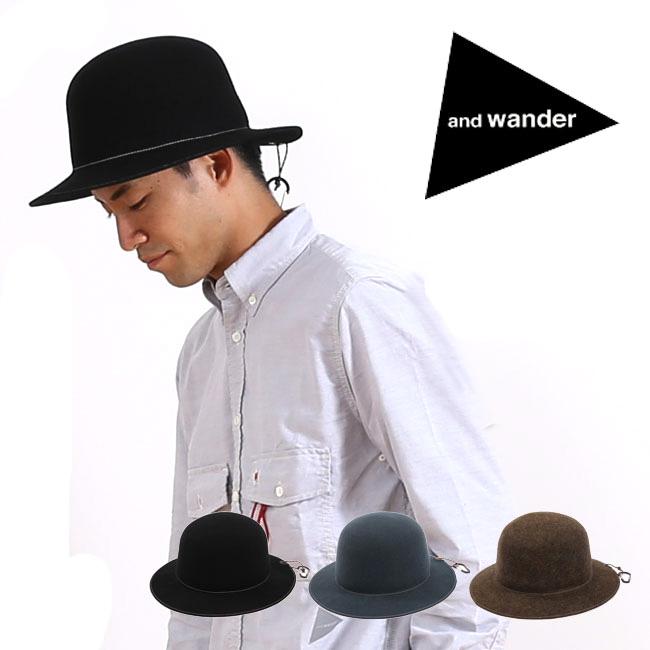 and wander アンドワンダー ウールフェルトハット 【送料無料】