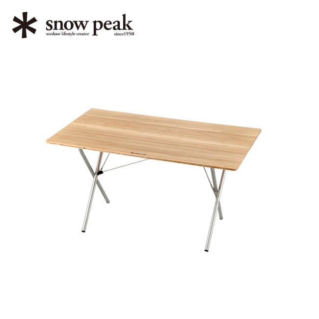 snow peak スノーピーク ワンアクションテーブルロング竹 テーブル 折りたたみ 長テーブル ロング 収納 天板 耐久 キャンプ BBQ アウトドア LV-015T