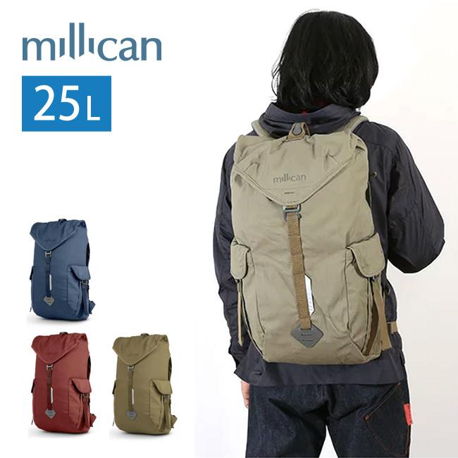 ミリカン millican フレイザーザラックサック 25L バックパック リュック カバン デイパック 旅行 仕事 PC 収納 丈夫 25L