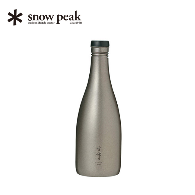 酒筒(さかづつ)Titanium snow peak Sake Bottle Titanium ボトル 水筒 徳利 とっくり お酒 ボトル チタニウム さけづつ TW-540 <2019 春夏>