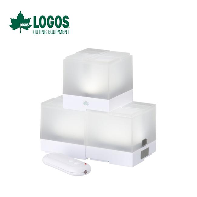 2021 春夏 ロゴス 蓄電 信頼 リモコンブロックライト-BA 3pcs LOGOS 74175030 人気ブランド多数対象 正規品 自由自在 ブロック構造 キャンプ アウトドア 充電 フェス