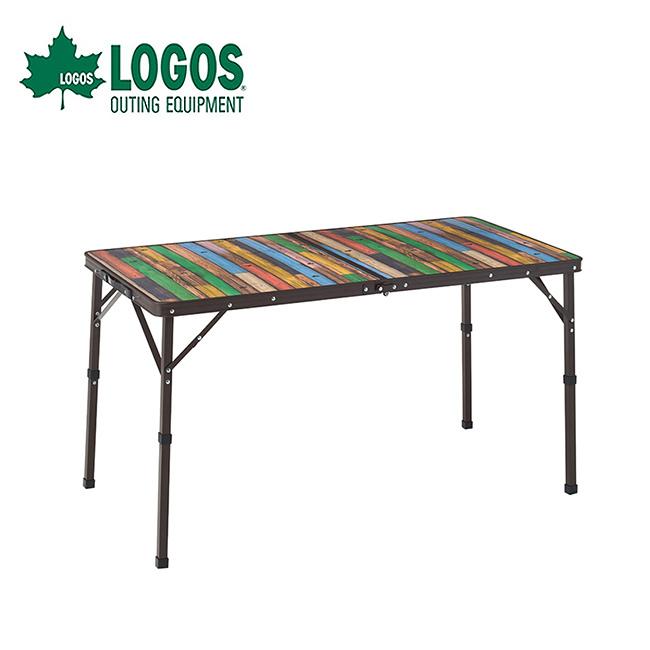 <2021 秋冬> ロゴス Old Wooden 丸洗いダイニングテーブル 12060 LOGOS 73188048 机 ハイ ロー 2段階 折り畳み コンパクト キャンプ アウトドア 【正規品】