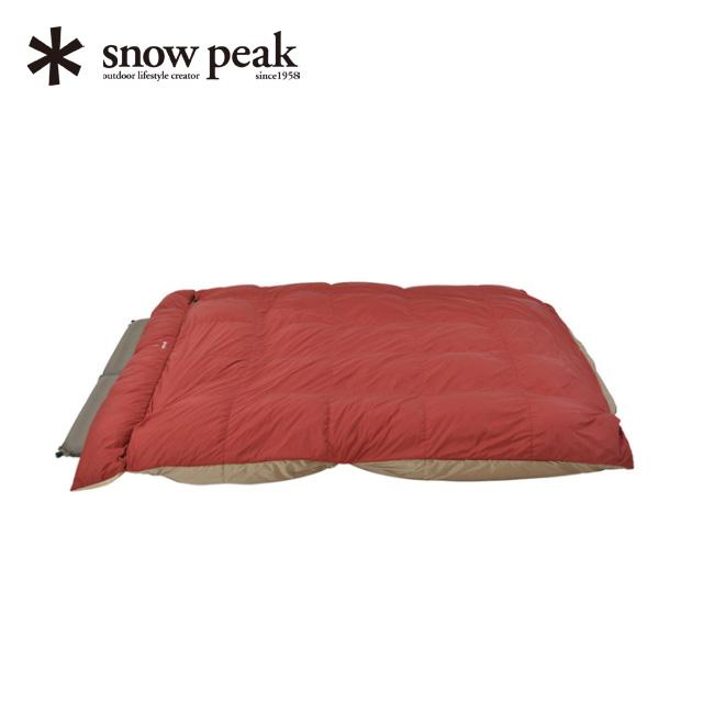 スノーピーク グランドオフトン ダブル1600 snow peak Grand Ofuton Double 1600 寝袋 シュラフ 寝具 アウトドア キャンプ 宿泊 封筒型 BD-051 <2018 春夏>