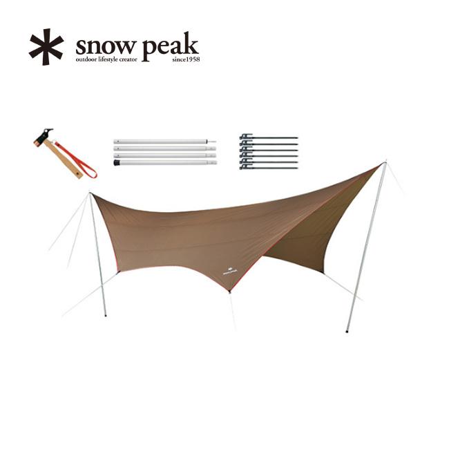 スノーピーク HDタープ シールド ヘキサ L Proセット snow peak HD-Tarp Hexa Pro. L Set タープ 6人用 アウトドア キャンプ TP-862S <2018 春夏>