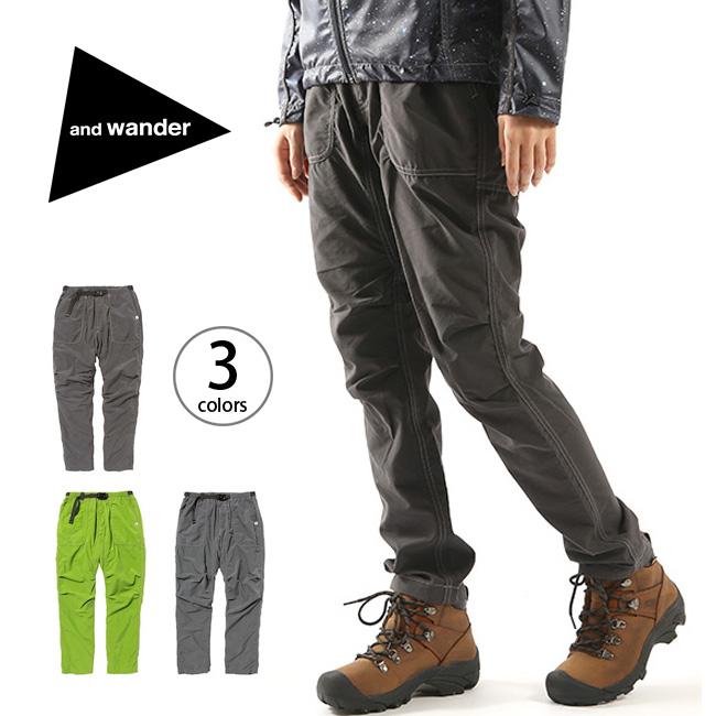 アンドワンダー ナイロンクライミングパンツ and wander nylon climbing pants メンズ レディース ユニセックス パンツ ロングパンツ クライミングパンツ ボトムス