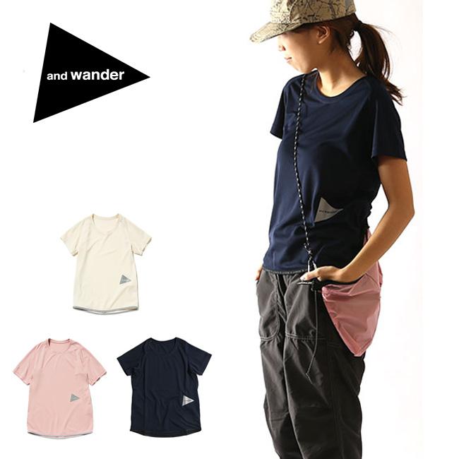 アンドワンダー ドライジャージーラグランショートスリーブ T and wander メンズ ウィメンズ ユニセックス Tシャツ ショートスリーブ 半袖