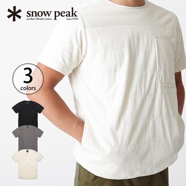 スノーピーク snow peak フレキシブルインサレーションハーフスリーブ インサレーション ウェア 半袖 インナー 中間着 防寒 保温 断熱 速乾 ポーラテック Polartec Alpha 【17ss】