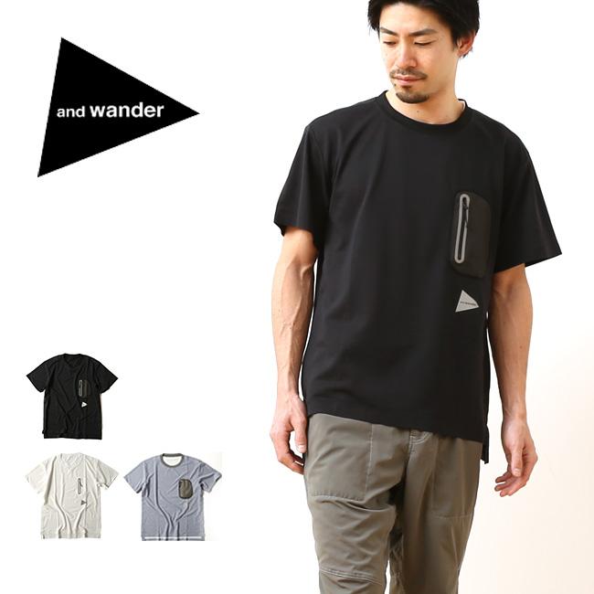 and wander アンドワンダー ポリエステルシームレス T 【送料無料】 polyester seamless T トップス Tシャツ 半袖 メンズ レディース ユニセックス
