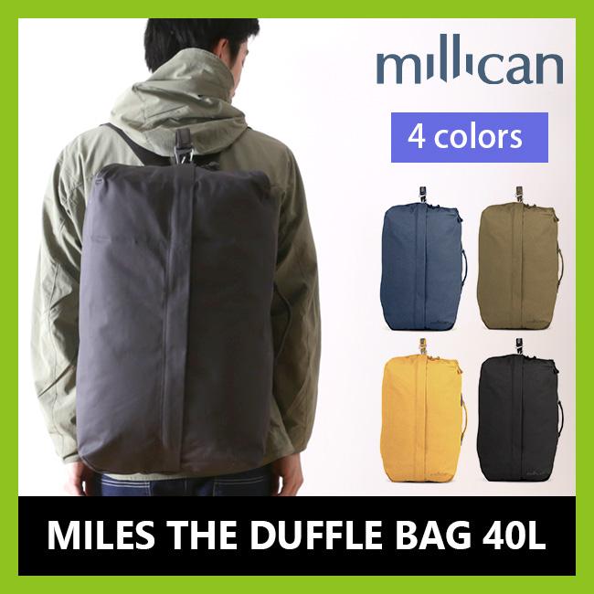 millican ミリカン マイルズ ザ・ダッフルバッグ 40L リュック バックパック ダッフル リュックサック ショルダー 2way メンズ レディース M220【CP07】