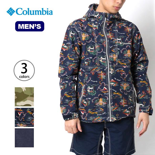 <2017年春夏新作!> コロンビア ヘイゼンパターンドジャケット ヘイゼン パターンド ジャケット トップス アウター ウエア 上着 ナイロンジャケット アウトドア メンズ ウェア 服 レインウェア 男性 アウトドア