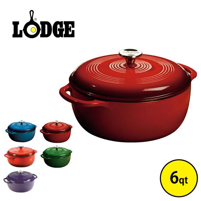 LODGE ロッジ エナメルダッチオーヴン6qt ダッチオーブン オーブン オーヴン エナメル カラフル レッド ブルー 鍋 調理器具 キッチン おしゃれ 6qt EC6D