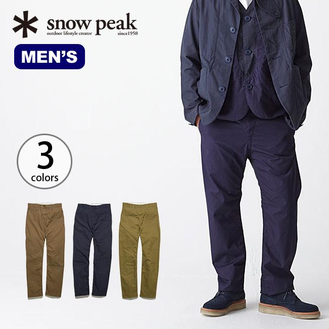 snow peak スノーピーク ベンタイル3ピースパンツ2 メンズ 【正規品】 服 ウェア ズボン ロングパンツ 綿パンツ 撥水性 防風 透湿 通気性 ベンタイル キャンプ アウトドア メンズ