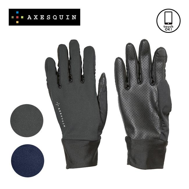 AXESQUIN アクシーズクイン シリコングリップ メンズ レディース ユニセックス  グローブ 手袋 シリコン グリップ 滑り止め 通気性 撥水 ストレッチ タッチパネル対応 タッチスクリン AG3808