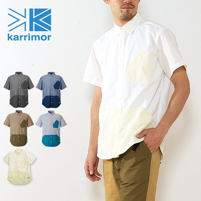 karrimor カリマー ハイブリッドS/Sシャツ 【送料無料】 シャツ 半袖 半袖シャツ ポリエステル コットン キャンプ 旅行 登山 ハイキング 軽量 速乾性 男性 メンズ