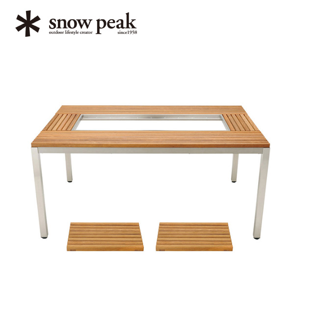 snow peak スノーピーク ガーデンユニットテーブル ウッドトップセット  【送料無料】 ガーデン アウトドア バーベキュー ファニチャー 机 テーブル 作業台 食事 チェア 椅子 イス 板