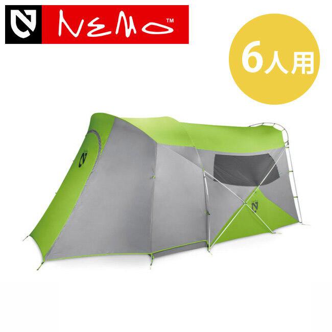 NEMO ニーモ ワゴントップ6P グリーン【送料無料】キャンピングシェルター テント 6人用テント キャンプ アウトドア 野外 フェス 軽量