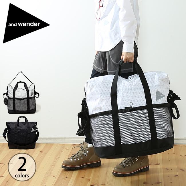 【キャッシュレス 5%還元対象】アンドワンダー Xパック 45L トートバッグ and wander X-Pac 45L tote bag AW-AA624 鞄 かばん 手提げバッグ 旅行 <2019 秋冬>