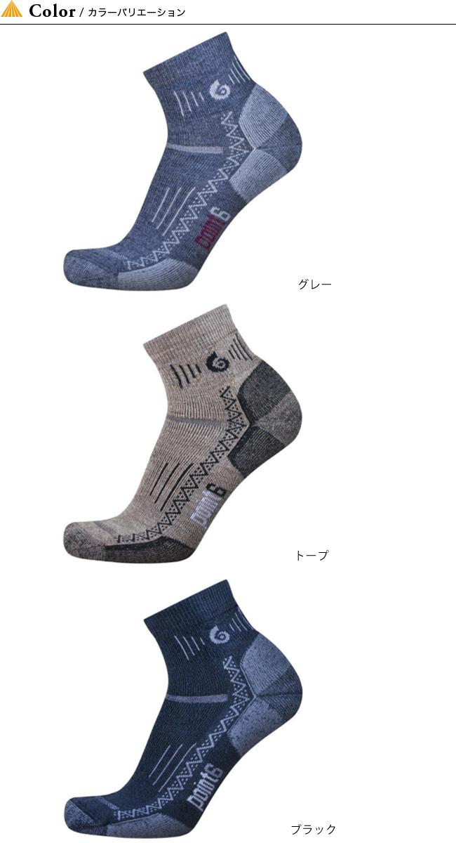 ポイントシックス POINT6 ハイキングミディアムミニクルー  メンズ 男性用 靴下 ソックス ウール スパンデックス アウトドアポイント6