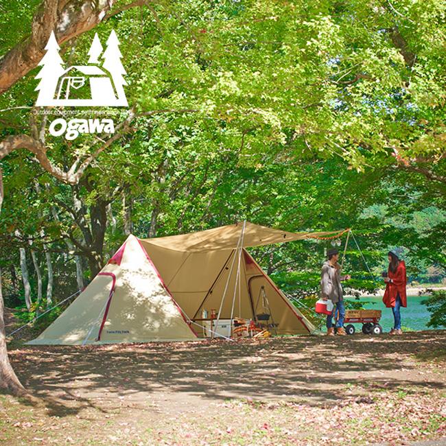 オガワ ツインピルツフォーク ogawa Twin Pilz Fork 【送料無料】 シェルター テント 2ポールテント ファミリー キャンプ 設営簡単 スタンディングテープ ストーブ ポリエステルコットン 17FW