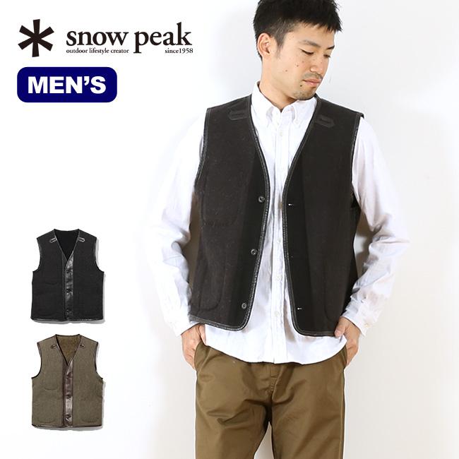 スノーピーク ウールミリタリーライニングベスト snow peak Wool Military Lining Vest 男性 メンズ ウェア 上着 アウター ベスト ライナー ジレ フォーマル カジュアル 大人 ミリタリー リバーシブル 17FW