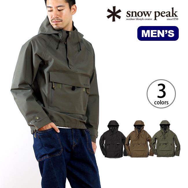 スノーピーク FRレインプルオーバー snow peak FR Rain Pullover メンズ ウェア 男性 ジャケット アウター 上着 プルオーバー かぶり フード パーカー アウトドア キャンプ 火 難燃性 透湿 防水 雨 風 水 ファイヤーレジスタンス  17FW